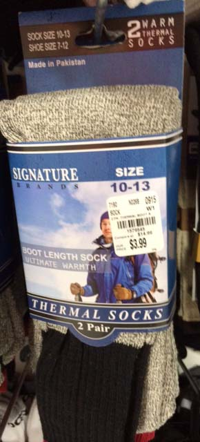 Adult advent calendar gift ideas: Thermal socks