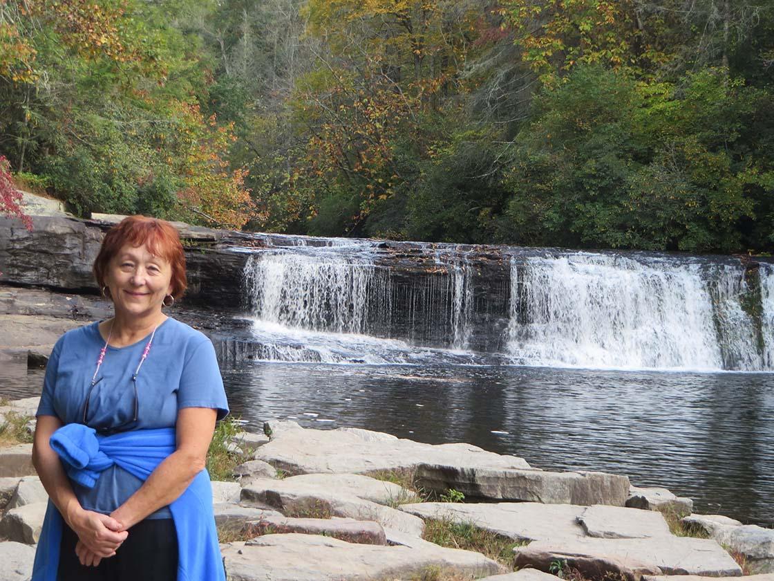 Fun fall women's adventure weekend in Brevard North Carolina