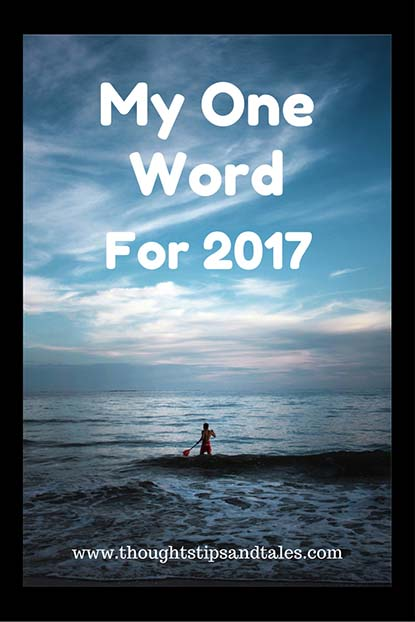 My One Word for 2017