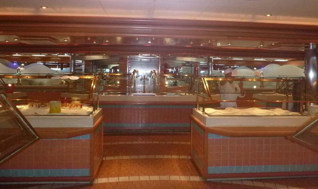 Crown Princess review: information dining room cafeteria line
