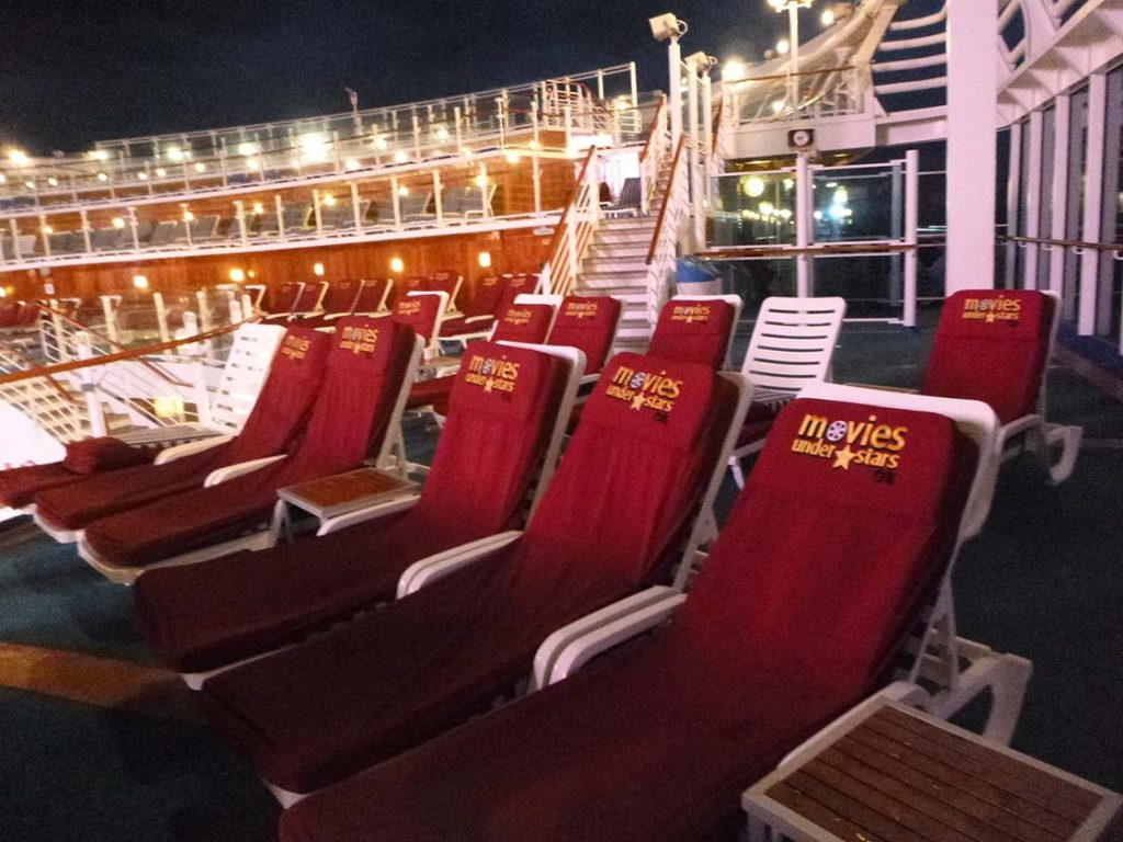 Crown Princess review: movies under the stars