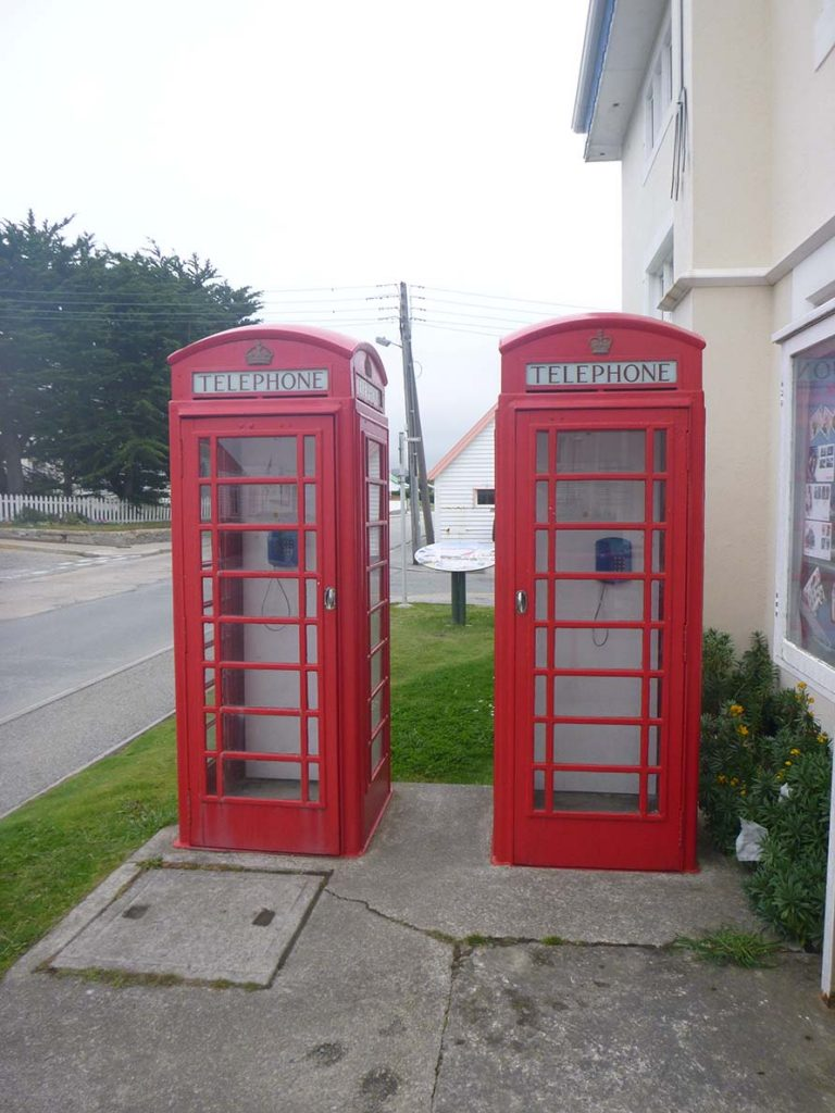 Phone booths on Falkland Islands