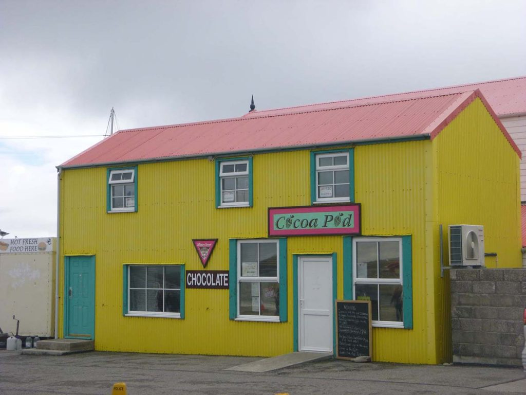 colorful shop on Falkland Islands