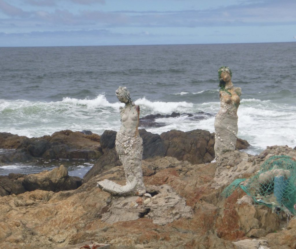 Mermaid sculpture at Punta Del Este