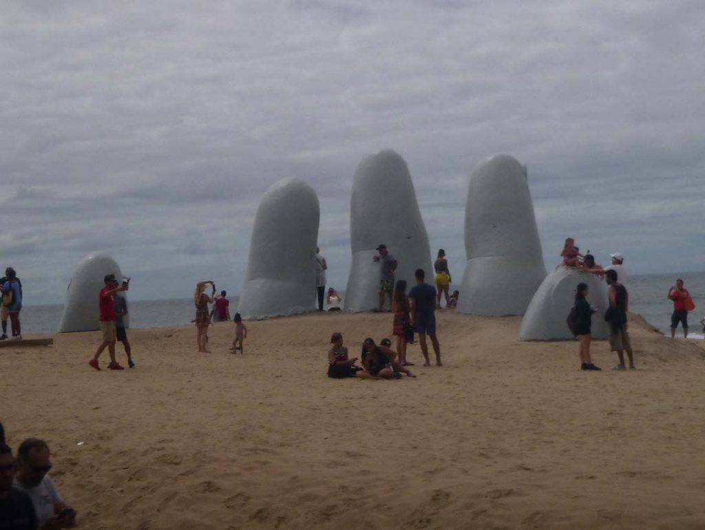 The Hand sculpture in Punta Del Este