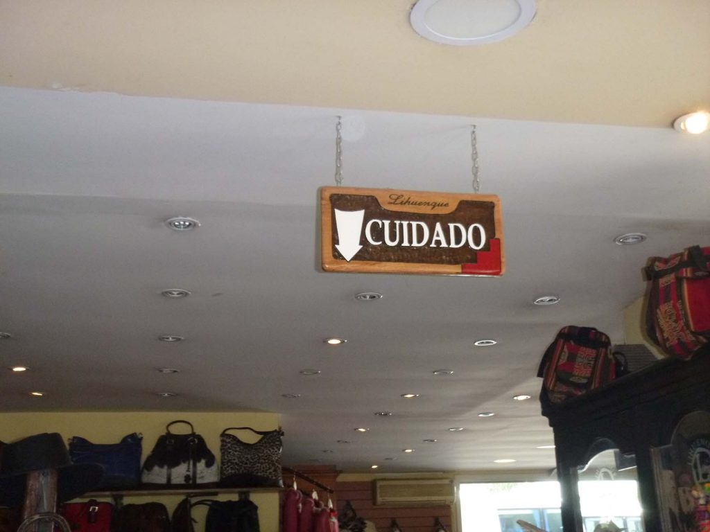 cuidado means watch out in Spanish