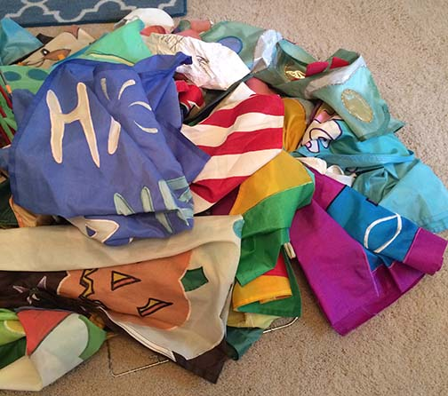 Decluttering Continue: An Inexpensive Way to Organize Outdoor Flags