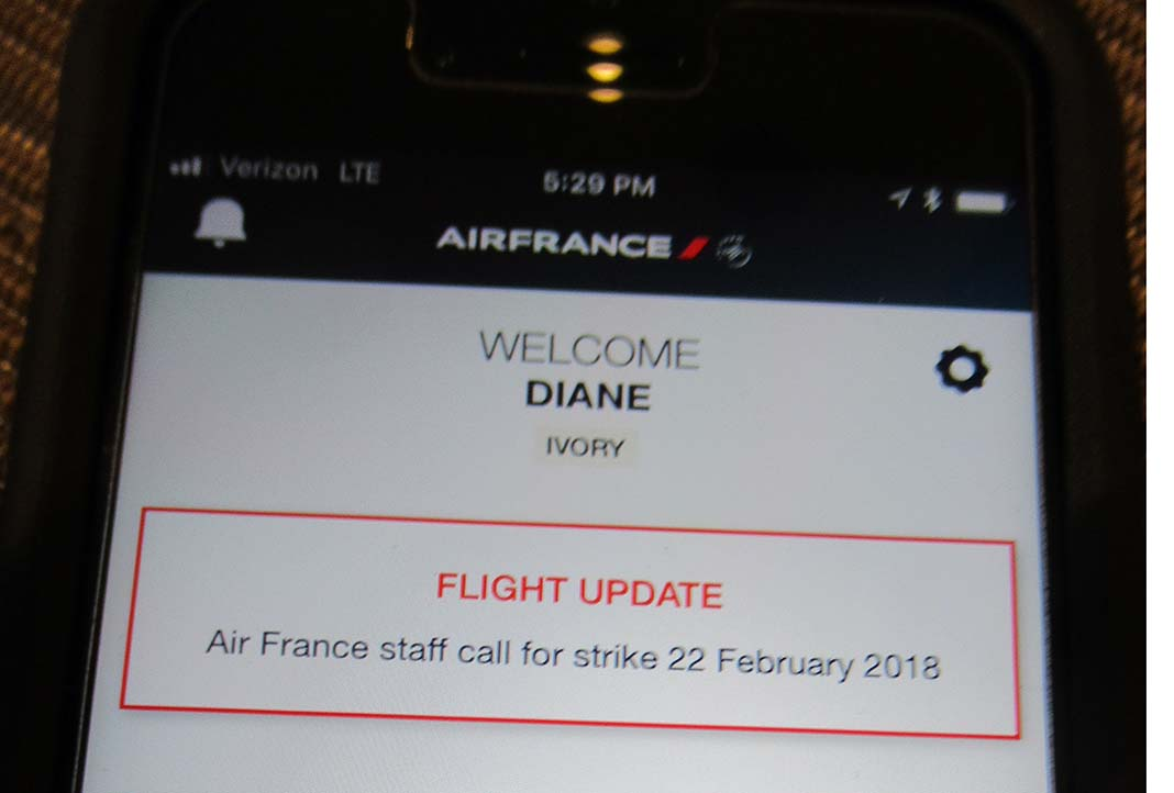 Air France strike notice