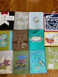 Hand made cards by peggy